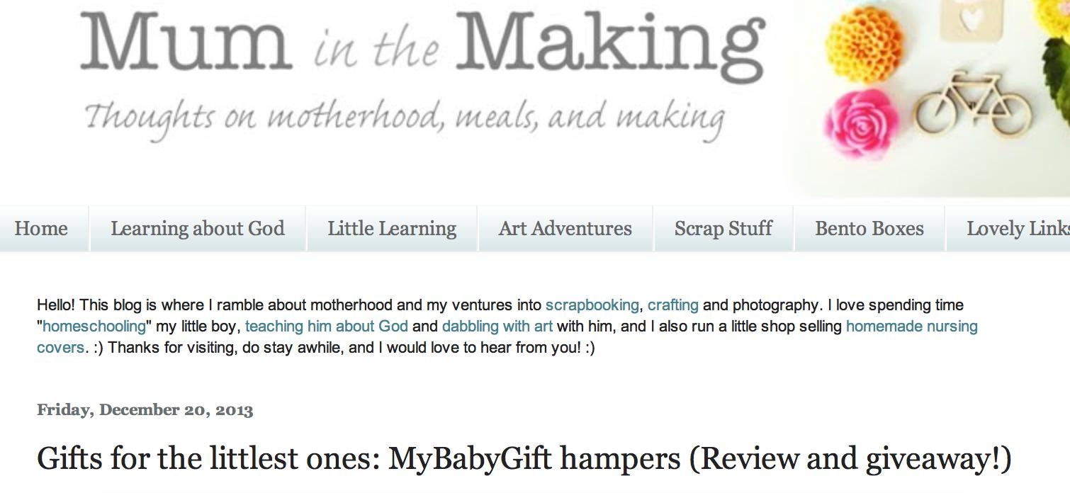 makingmum.blogpost.sg review on mybabygift.com.sg