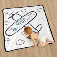 Personalized milestone blanket- Airplane
